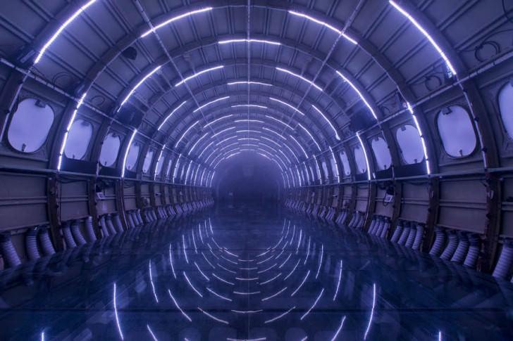 Breathtaking Light Installation On A Plane Art + Graphics Geek Universe