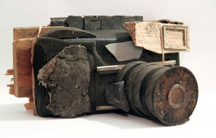 Sculptures Of Cameras From Debris by Pauline Bastard Art + Graphics