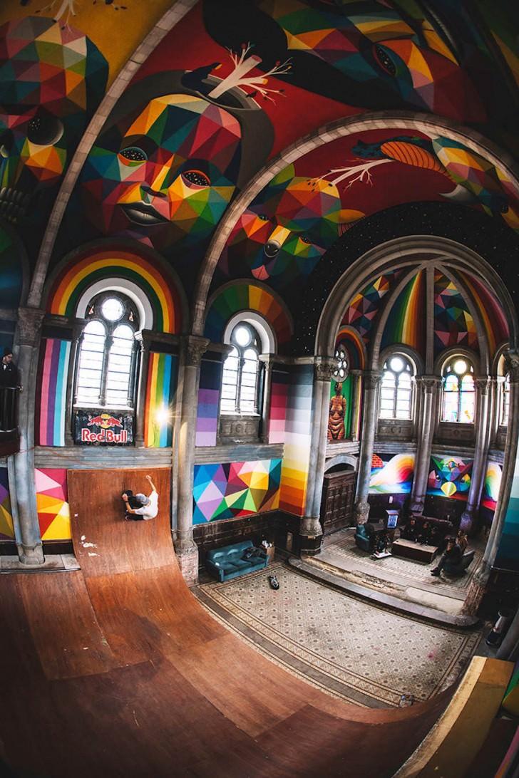 Colorful Skatepark Inside A Church Art + Graphics