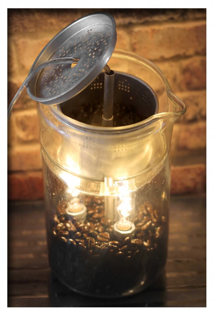 Vintage Lamp From Repurposed Pyrex Percolator Coffee Pot Design DIY + Crafts