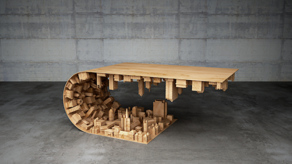 Cityscape Curved coffee Table by Stelios Mousarris Design