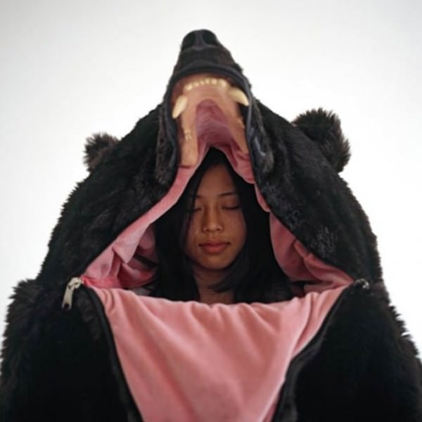 Comfy Sleeping Bag That Looks Like A Life-sized Bear Funny