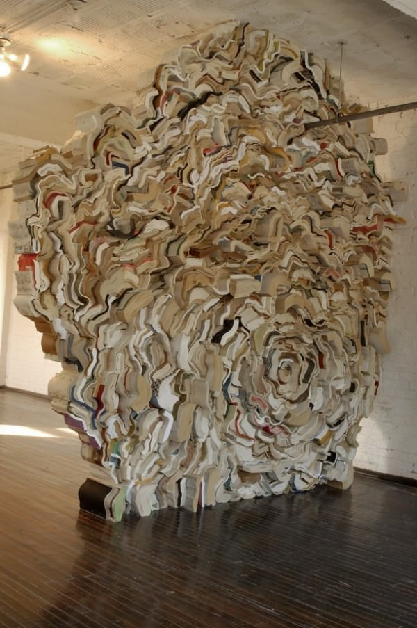 Compressed Books Sculptures by Jonathan Callan Art + Graphics