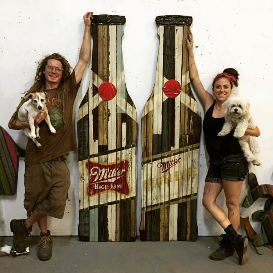 Funky Reclaimed Wood Art Sustainability