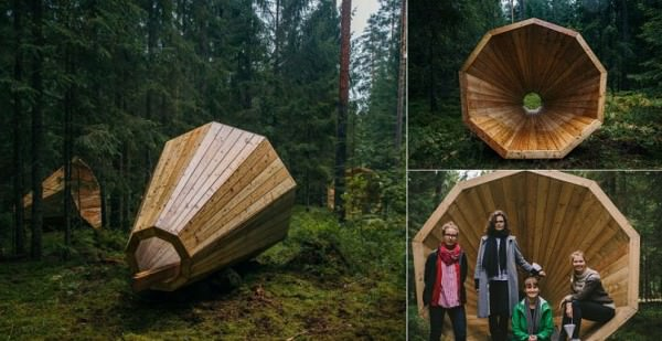 Giant Wooden Megaphones To Amplify The Sounds Of The Forest Animals + Nature