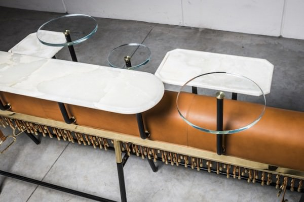 Gymnastic Beam Upcycled Into Bar By David/Nicolas Design Sustainability