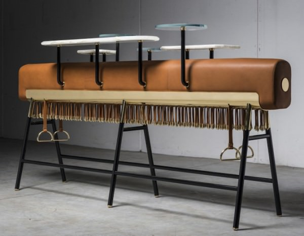 Gymnastic Beam Upcycled Into Bar By David/Nicolas Design Sustainability
