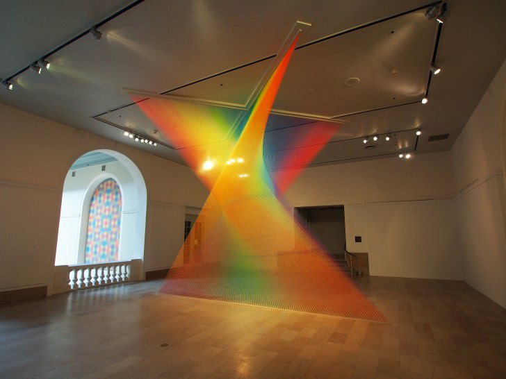 Plexus, Made of Hundreds of Kilometers of Multicolored Yarn Art + Graphics