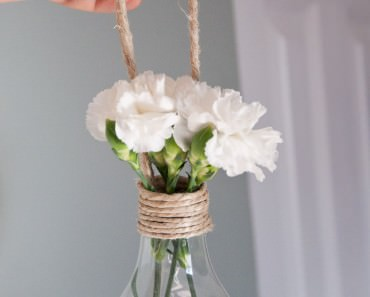 Nice Hanging Light Bulb Vase Decorations