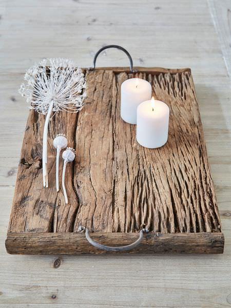 Rustic Reclaimed Wood Tray DIY + Crafts