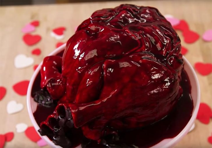 Realistic Cake Shaped as a Human Heart,giving Your Heart for Valentine's Day? Creative Fooding