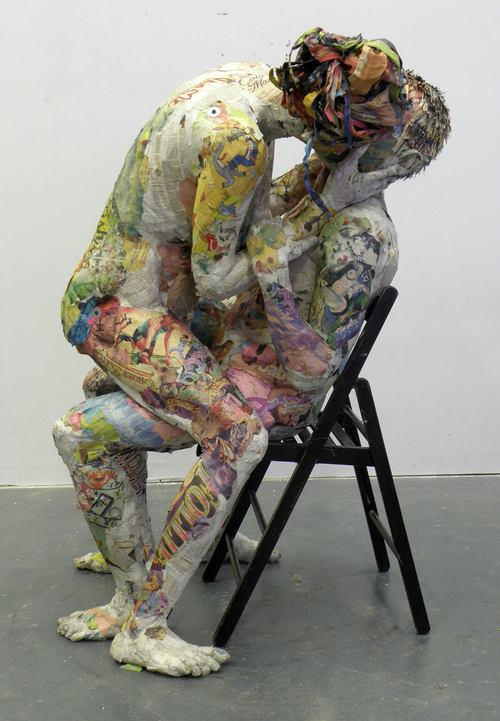 Awesome Newspaper Sculptures by Will Kurz Art + Graphics