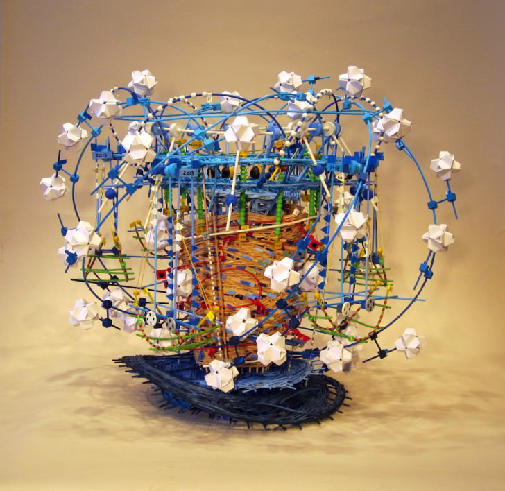 Colorful Basket Weaving Sculptures by Nathalie Miebach Art + Graphics