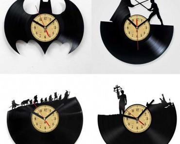 Handmade Design Vinyl Record Clock