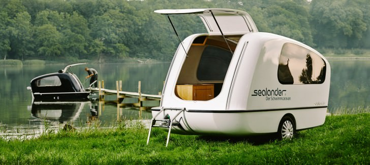 Sealander: A Caravan and Yacht in One Funny Lifestyle