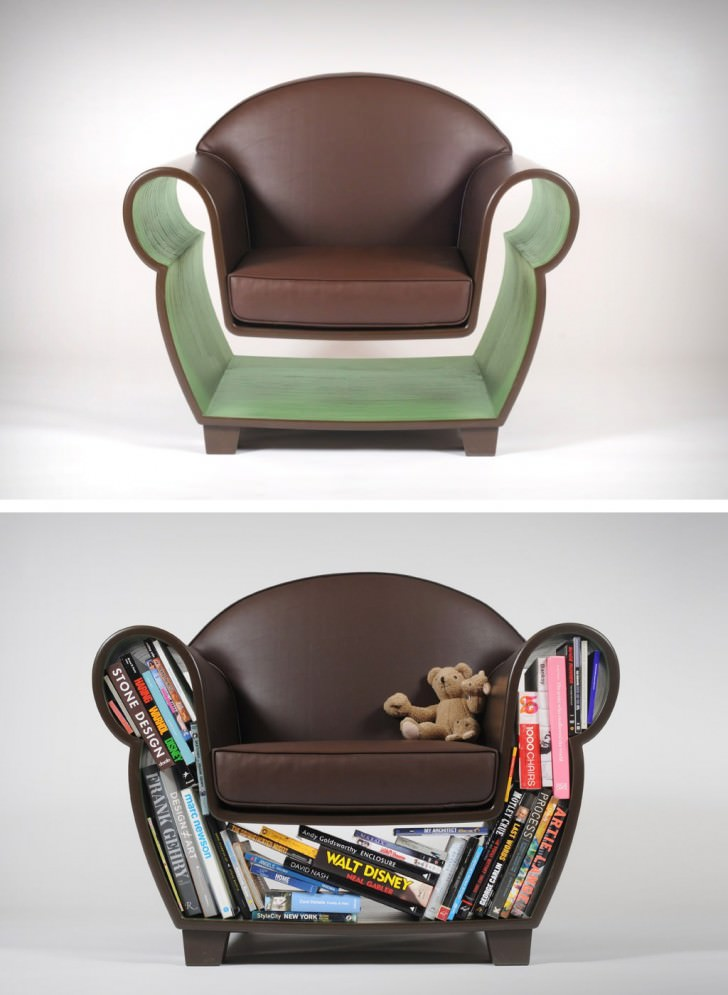 Shelf or Lighting Functional Hollow Chair Architecture + Interiors