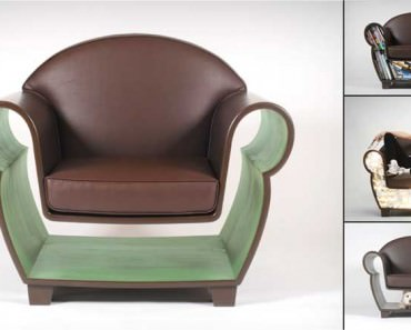 Shelf or Lighting Functional Hollow Chair