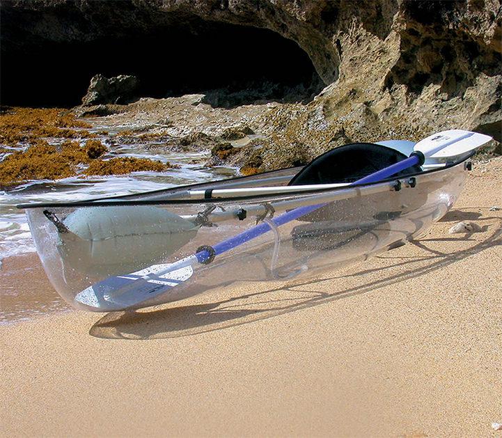 The Transparent Canoe Kayak Offers Incredible Views of the Ocean Below Funny