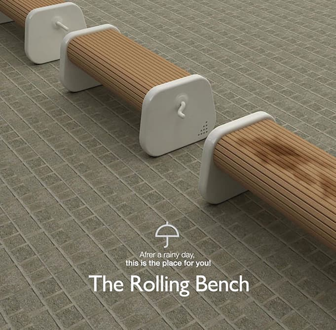 This Rotating Bench Always Has a Dry Seat for You Architecture + Interiors