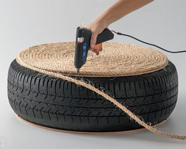 How To: Turn an Old Tire into a Stylish, Nautical-Inspired Ottoman