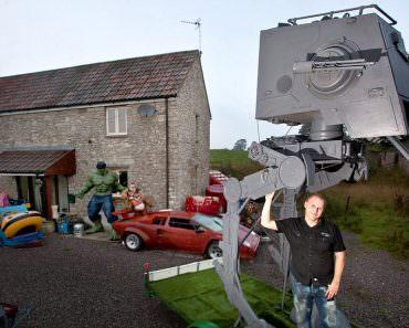 Star Wars: He built an AT-ST Original Size Replica - video