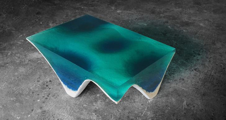 Delmare: Hypnotic Table by Eduard Locota Design