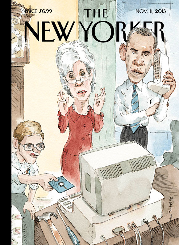"""""""new Yorker"""" Cover Lampoons Obamacare Website Mess Photography"""