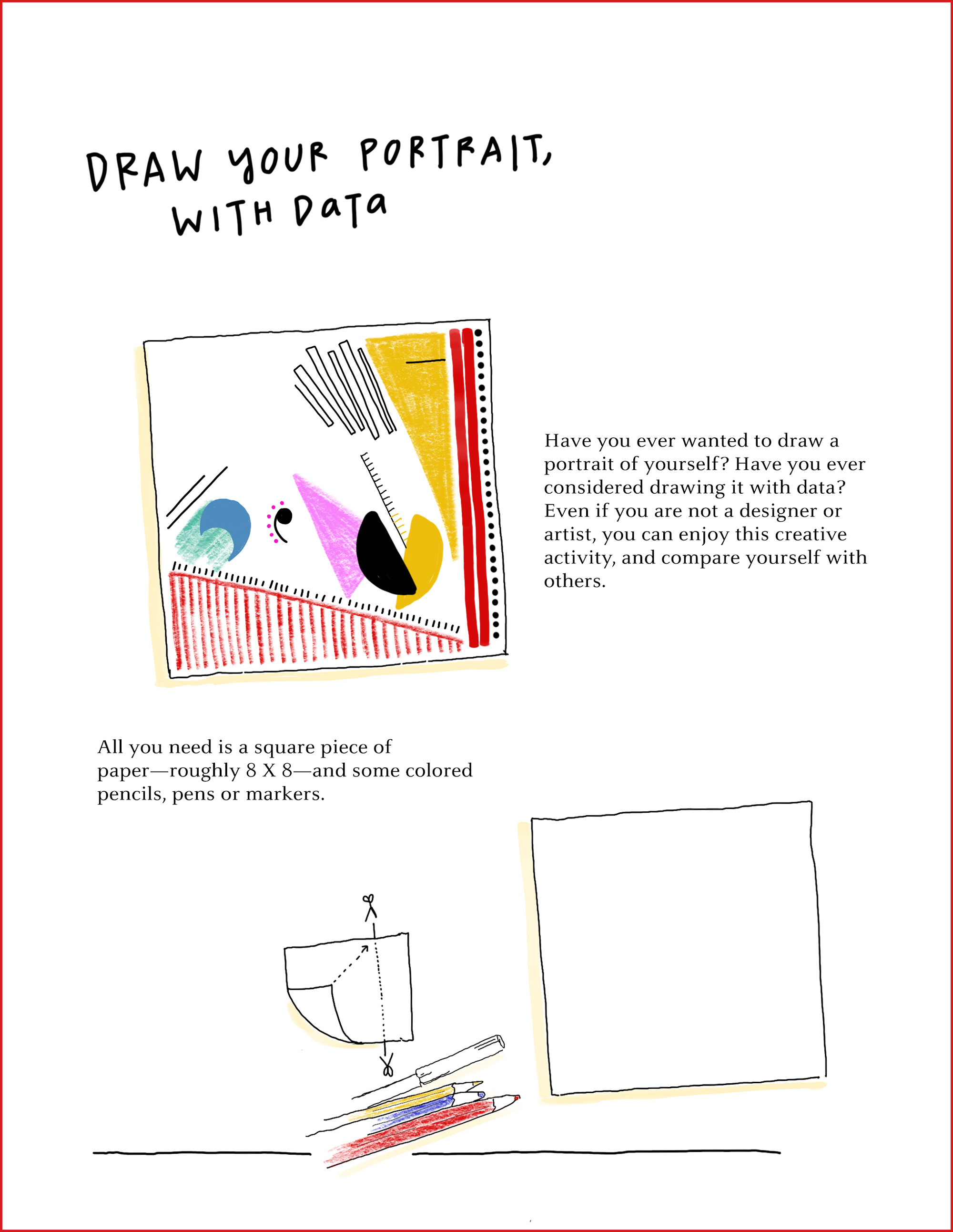 How to Draw Your Own Selfie … Using Your Personal Data | Geek Universe