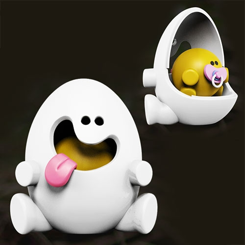 Yolkels By Jason Freeny. A Cheeky Egg (What Else) With A Great Personality! It Comes With A White Detachable Shell That … – #63013 Design