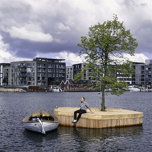 Copenhagen Islands By Fokstrot. Cph-Ø1 Is A Small 20m2 Hand Made Wooden Platform With A Linden Tree At Its Centre. The … – #63117 Design