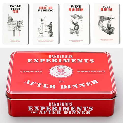 """Dangerous Experiments For After Dinner – """"Twenty-one Beautifully Illustrated Cards Detail Each Challenge, Which Are All … – #63342 Design"""