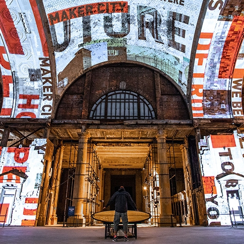"""""""For Detroit"""" Is An Interactive Art Installation And Interior Experience By Red Paper Heart For The Open House, Ford Mot… – #63371 Design"""