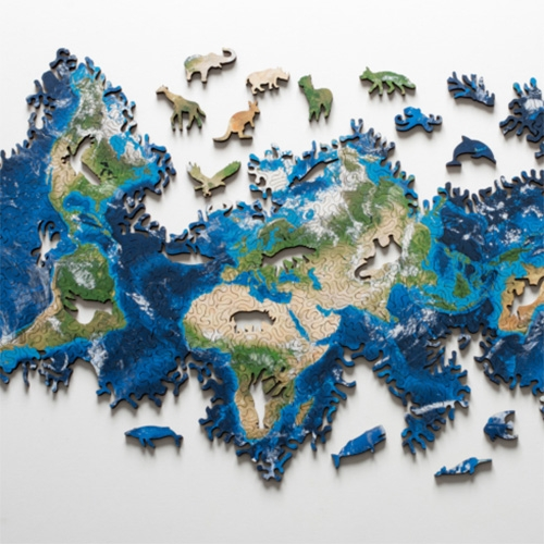 Nervous System Earth Puzzle Looks Incredible. It Is Based On An Icosahedral Map Projection And Has The Topology Of A Sp… – #63414 Design