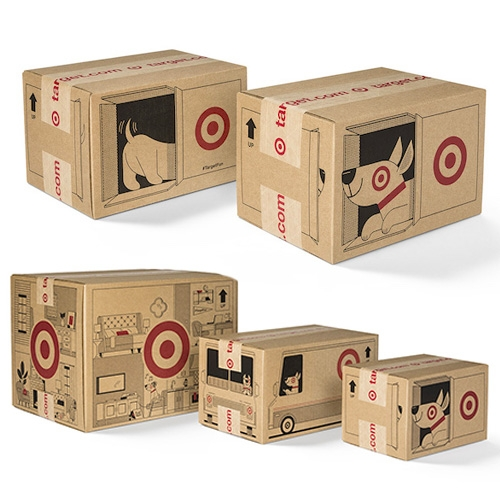 Target's New Shipping Boxes (Launching Holiday 2018) Are Adorable! They Feature Bullseye, Pulling Up In A Target Deliver… – #63423 Design