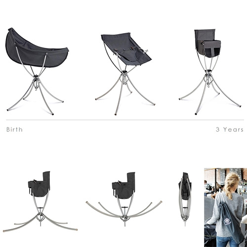 Vaggaro One – Modular Foldable Baby Furniture System That Evolves From A Cradle To A Bouncer To A High Chair. Like The B… – #63401 Design