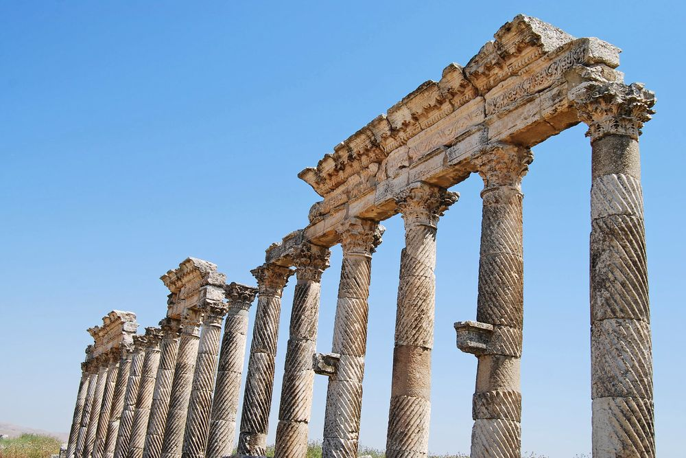 The Great Colonnade at Apamea Photography