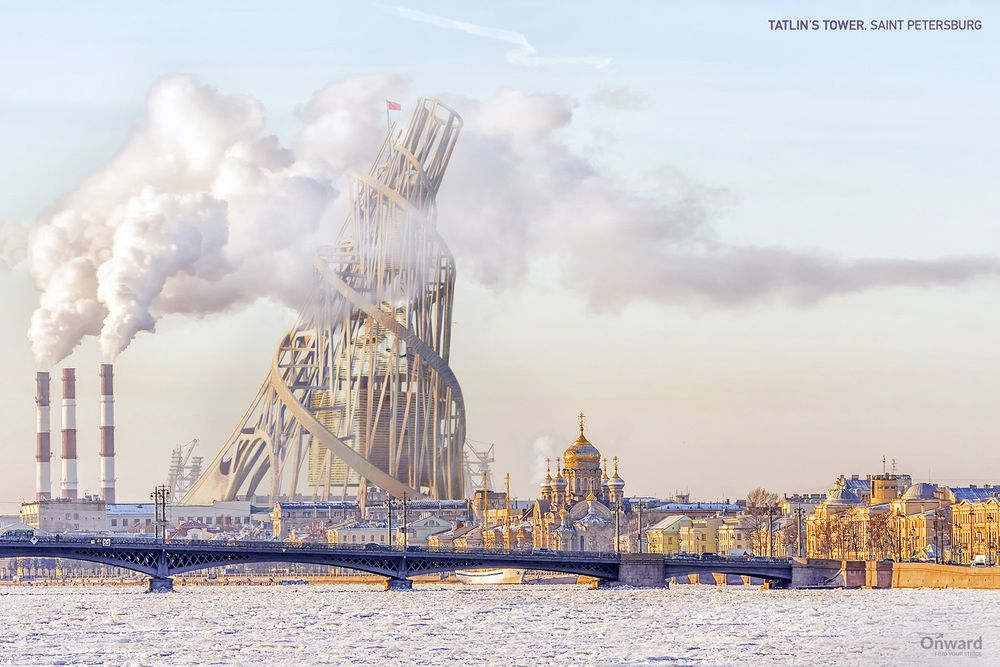 Vladimir Tatlin's Unbuilt Tower | Amusing Planet Photography